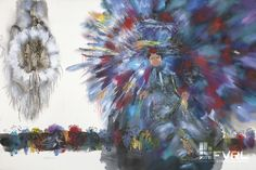 POW WOW TRANCE 1997. William Allister exhibition on display May 25 - September 3, 2013 at Ladner Pioneer Library 4683 51 St. Delta, BC www.fvrlevents.com 25 September, Pow Wow, Canadian Artists, Trance, Symbols, Paintings, Display, Canvas, Tela