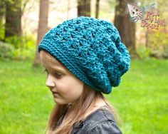 Squid Dance Slouch Hat - Free crochet pattern by KT and the Squid - in Child/Adult sizes, worsted weight yarn, 5mm hook.