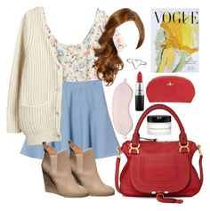 Lydia Martin Inspired Long Flight Outfit by lili-c on Polyvore featuring polyvore fashion style H&M Acne Studios Chloé Free People MAC Cosmetics BBrowBar Vivienne Westwood Art for Life