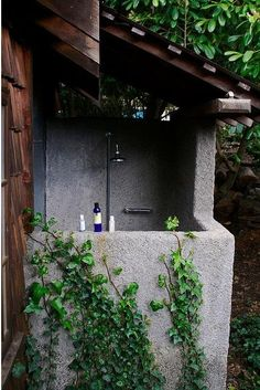 dreamy outdoor shower