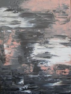pink and gray | Pink and Grey Abstract Painting 30x40 on by JenniferFlanniganartLarge ...