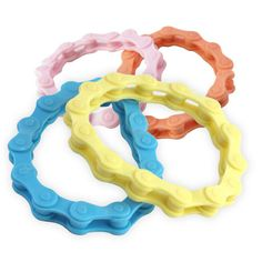 Silicone Bike Chain Bracelets come in assorted colors and will stretch to fit just about any size wrist. A perfect bracelet to be worn by any cycling enthusiast. Maker Fun Factory Vbs, The Fun Factory, Bike Chain Bracelet, Chain Bracelets, Back To School Supplies, Atv Parts, 2017 Summer, Cycling, God