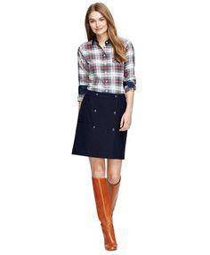 Cotton Flannel ShirtWhite Multi