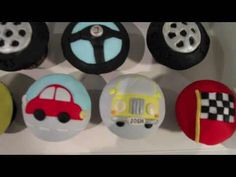 Chocolate cupcakes decorated with fondant Fondant Cupcakes, Car Cupcakes, Cupcake Youtube, Car Themes, 2nd Birthday, Birthday Ideas, Google Search, Image