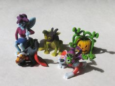 "Batch 06 of 2"" Monsters. Includes the Nightmare Fairy, the Mutant Space Monkey, the Chamera, the Headless Horseman, and Jack the pumpkin."