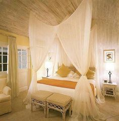 & 7 Dreamy DIY Bedroom Canopies - | White fabrics Canopy and Delicate