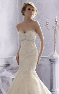 Strapless Sweetheart Gown by Bridal by Mori Lee 2686