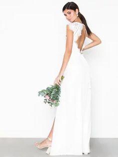 9c645c56 Cap Sleeve Flowy Gown - Nly Eve - Hvid - Festkjoler - Tøj - Kvinde -