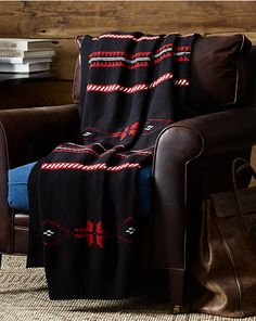 Gift Guide | Featured in Architectural Digest's December 2014 Issue Gift Guide, Ralph Lauren Home's Kirkwood Throw Blanket