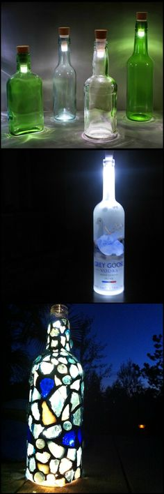 Illuminate a Room in Your Home by Turning a Glass Bottle into a Decorative Lantern