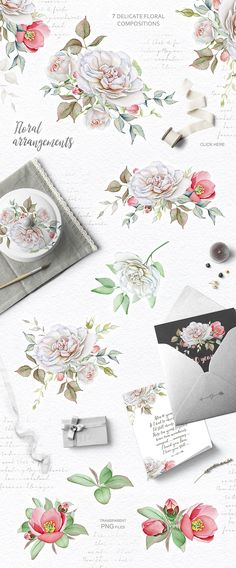 Watercolor Floral Collection by Eva-Katerina on @creativemarket