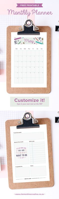 May 2016 Printable Monthly Planner. Get this FREE printable planner and all upcoming months delivered straight to your inbox! You'll get two sizes: A4 and A5 (fits kikki.K large and A5 Filofax planners).