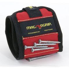 MagnoGrip 311-090 Magnetisches Armband für Arbeiten mit Schrauben, Muttern etc. Farbe: rot - Armband Magnet Handgelenksriemen 1 Stück: Amazon.de: Gewerbe, Industrie & Wissenschaft