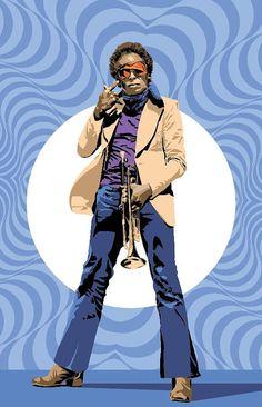 Miles Davis | Jazz | Fan Art 17 x 11 Digital Print by Dadmancat