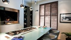See our range of fabulous interior shutter styles for your home. Stylish, made to measure plantation shutters are hand-crafted to fit any size or shape of window. Indoor Shutters, Interior Window Shutters, Wooden Shutters, Interior Doors, House Blinds, Blinds For Windows, Window Blinds, Brown Vertical Blinds, Islands