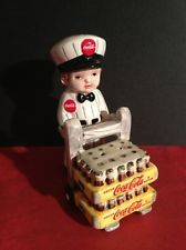 Coca Cola Delivery Boy W/Coke Salt And Pepper Shakers. Highly Collectible.