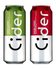 """clever packaging for Cider, a Swedish brew. Look carefully and you'll see the emoticon and the sideway """"Cider"""" - Nice! (via thedieline) Design Typo, Label Design, Typography Design, Print Design, Branding Design, Graphic Design, Lettering, Package Design, Design Agency"""