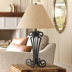 Blacksmith Black Wrought Iron Scroll Table Lamp - #10T96 | Lamps Plus