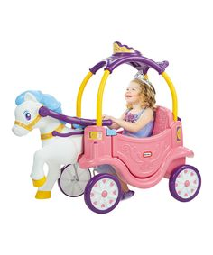 IT'S A COZY COUPE!!!!!!!! Sooooooooo cute!!! Little Tikes Princess Horse & Carriage today!