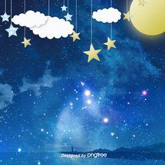 hand painted aesthetic night star star moon cloud e commerce background Night Sky Moon, Night Sky Stars, Starry Night Sky, Night Skies, Star Background, Night Background, Background Images, Black Phone Wallpaper, Locked Wallpaper