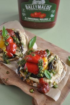Ideally this recipe uses Khubz, a Middle Eastern flatbread, but you can use other homemade or shop -bought flatbreads as alternatives. This vegan recipe uses dairy-free pesto and a lovely mix of vegetables and sauces. Serve with Ballymaloe Relish.  #relish #vegan #vegetarian #flatbread #pepper Whole Food Recipes, Vegan Recipes, Dairy Free Pesto, Turks, Clean Eating, Healthy Eating, Middle Eastern Recipes, Recipe Using, Vegan Vegetarian