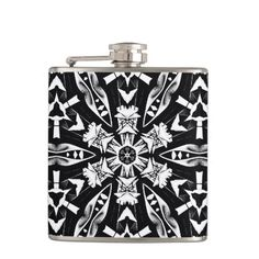 On Point_Flasks Low Price.Flask with black & gray art  by Elenne Boothe  Makes great gifts. http://www.zazzle.com/on_point-256891502157895683
