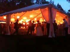 A perfect garden party..soft golden bubbles of light..
