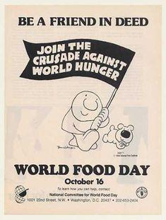 Tom Wilson Ziggy Cartoon World Food Day (1986)