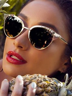 Quay Eyeware Quay Eyewear Tilly Sunglasses in Gold as seen on Shay Mitchell   promotion Lunettes 3f7f65ffdda