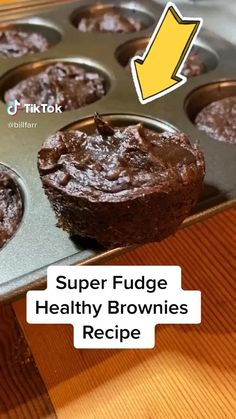 Healthy Deserts, Healthy Sweets, Healthy Dessert Recipes, Healthy Baking, Delicious Desserts, Healthy Snacks, Snack Recipes, Yummy Food, Healthy Chocolate Desserts