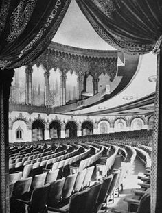 """Los Angeles Theatres Liked · 3 hrs · Edited    The Warner/Hollywood Pacific, 6433 Hollywood Blvd. -- We're peeking into the Warner's majestic auditorium from the side of the wrap-around lobby. The new theatre was featured in a seven page article on """"Warner Bros. New Theatre"""" in the December 1928 issue of Architect and Engineer. On Internet Archive:"""