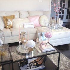 Glam living room via IG | @ nicky.sinclair