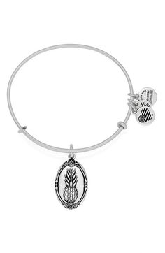 Alex and Ani 'Pineapple' Adjustable Wire Bangle