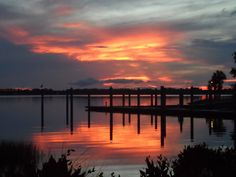 Sunset over Lake in Mount Dora, FL. Charming little town with fun shops and antiques.