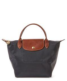 LONGCHAMP Longchamp Le Pliage Small Nylon Top Handle'. #longchamp #bags #leather #hand bags #nylon #lining #