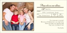 Shutterfly 4x8 Note New Address Moving Card 12  $0.80   25  $0.70   50  $0.70   75  $0.65   100  $0.63   125  $0.63   150  $0.60   175  $0.50   200  $0.45   225+  $0.40