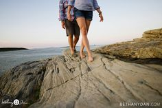 Engagement session in Portland Maine at Ft Williams with Bethany and Dan Photography! www.bethanydan.com
