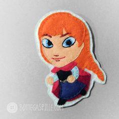 Una caricatura del personaggio di Frozen, lei è Anna.  #handmade #frozen #Anna #Disney #character