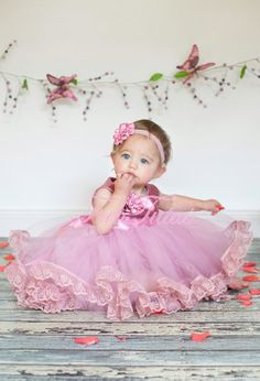Couture flower girl / special occasion dress  with por FabTutus