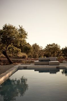 Finca on Ibiza by Annabell Kutucu - Photography by Steve Herud Indoor Outdoor, Outdoor Pool, Outdoor Spaces, Outdoor Living, Indoor Pools, Deco House, Turbulence Deco, Garden Pool, Backyard Pools