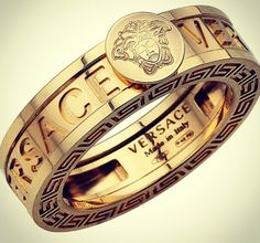VERSACE gold ring