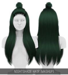 The Sims 4 Mody: Włosy NIGHTSHADE od Simpliciaty