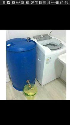 Re-use washing machine water