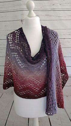 New scheepjes whirl pattern for crochet shawl using fillet crochet