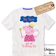 Birthday Girl Peppa pigPeppa pig tshirt iron on