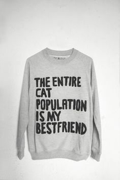 """Pullover """"The entire cat population is my best friend"""
