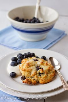 Saving room for dessert: Blueberry Shortcakes with Whipped Cream Cheese