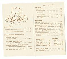 Milton Glaser's menus for the World Trade Center #menu #design