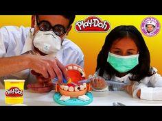 Play Doh Doktor Wackelzahn deutsch Dr Drill n Fill - Wir spielen Zahnarzt mit Knetmasse - YouTube