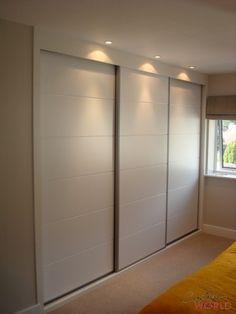 White Bowland Horrizonal sliding doors with white surround